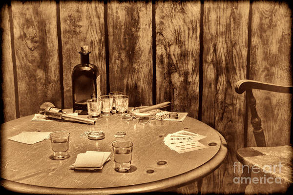 Photograph - The Gambling Table by American West Legend By Olivier Le Queinec