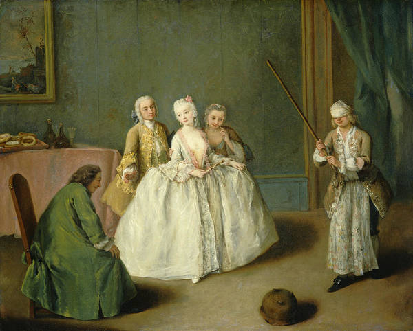 Wall Art - Painting - The Game Of The Cooking Pot by Pietro Longhi