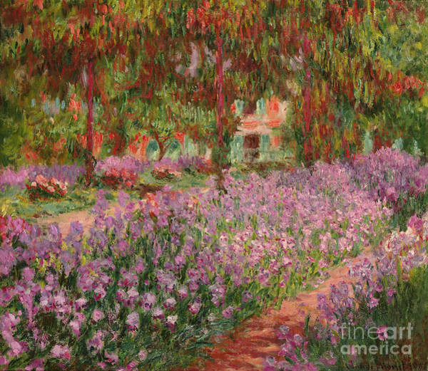Monet Painting - The Garden At Giverny by Claude Monet