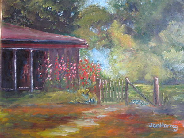 Wall Art - Painting - The Garden Gate by Jan Harvey
