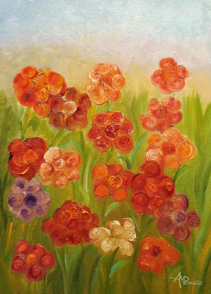 Painting - The Garden Of Joy by Angeles M Pomata