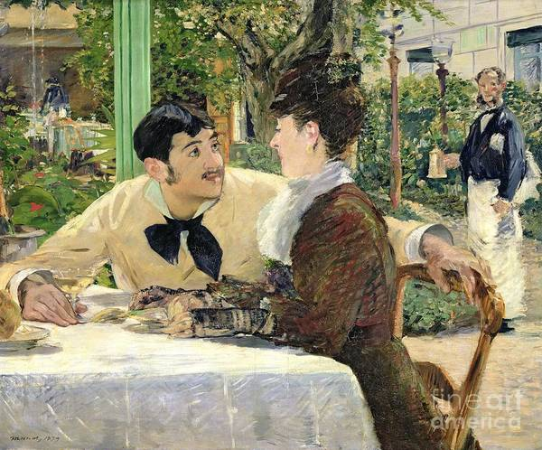 Cafes Wall Art - Painting - The Garden Of Pere Lathuille by Edouard Manet