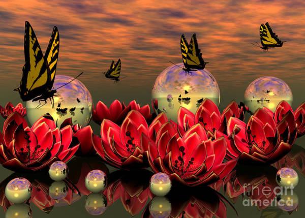 Digital Art - The Garden by Sandra Bauser Digital Art