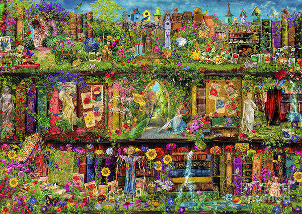 Aimee Stewart Wall Art - Digital Art - The Garden Shelf by MGL Meiklejohn Graphics Licensing