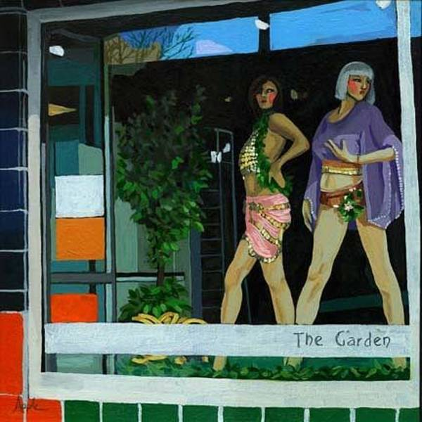 Wall Art - Painting - The Garden Store Window by Linda Apple