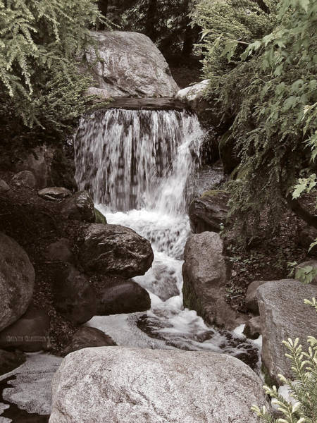 Hemlock Photograph - The Garden Waterfall by Garth Glazier