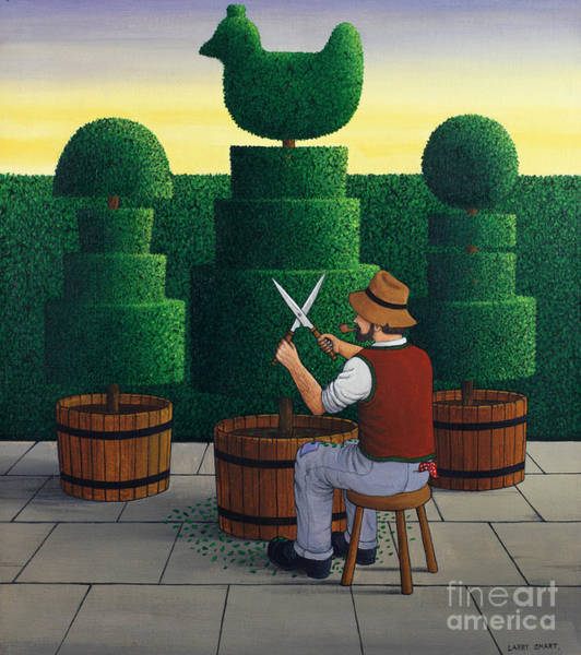 Wall Art - Painting - The Gardener, 1986 by Larry Smart
