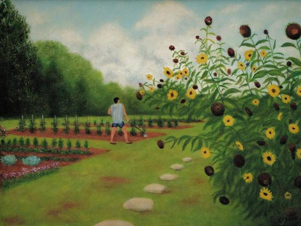Cabbage White Painting - The Gardener by Charles Hill
