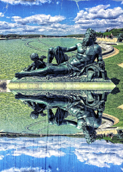 Photograph - The Garonne Bronze Statue Versailles Paris France Sculpture by Beverly Claire Kaiya