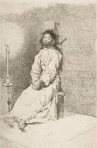 Relief - The Garroted Man by Francisco Goya