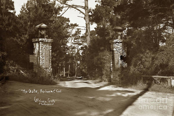 Photograph - The Gate, Asilomar, Y. W. C. A., Pacific Grove, Calif. by California Views Archives Mr Pat Hathaway Archives