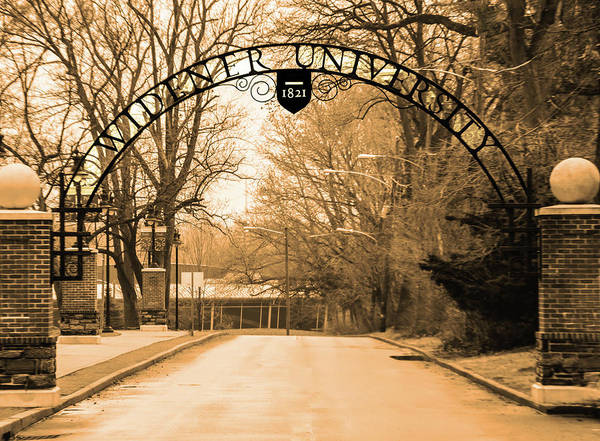 Photograph - The Gate At Widener University by Bill Cannon