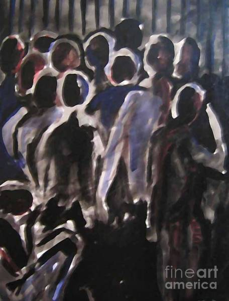 People Watching Painting - The Gate by Reb Frost