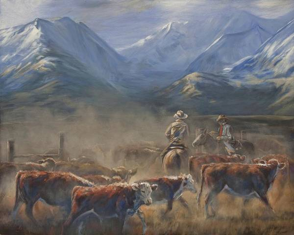 Crazy Mountains Painting - The Gate Tally by Mia DeLode
