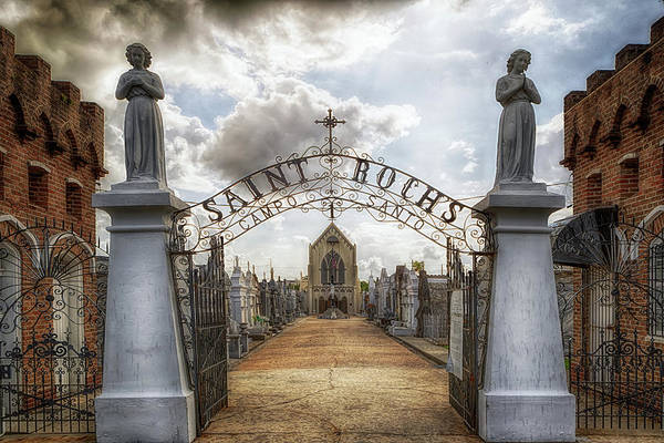 Photograph - The Gates Of Saint Roch's Campo Santo by Susan Rissi Tregoning