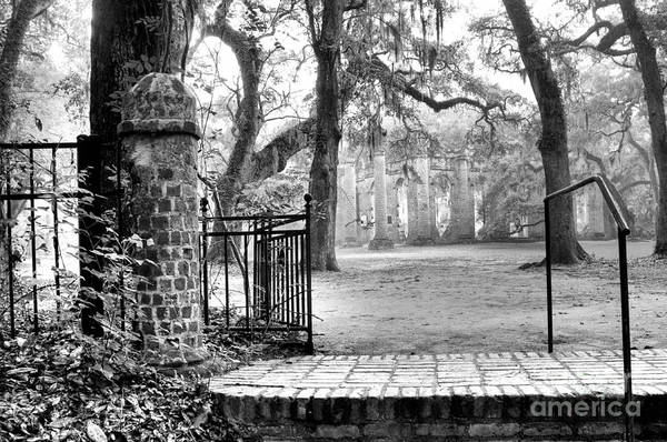 Photograph - The Gates Of The Old Sheldon Church by Scott Hansen