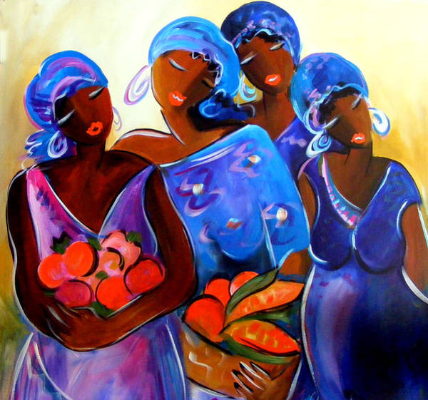 Mama Africa Wall Art - Painting - the Gatherers by Ronnie Biccard