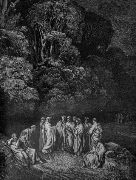 Charcoal Drawing Photograph - The Gathering In The Woods by Douglas Barnett