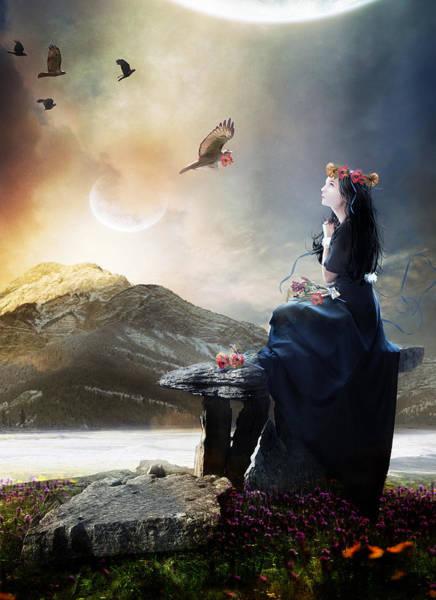 Poppies Digital Art - The Gathering by Karen Koski