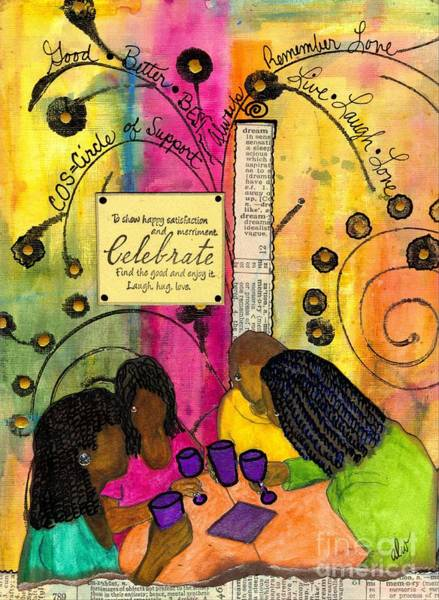 Wall Art - Mixed Media - The Gathering Of Good Friends by Angela L Walker