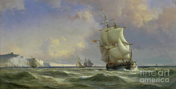 Maritime Painting - The Gathering Storm by Anton Melbye
