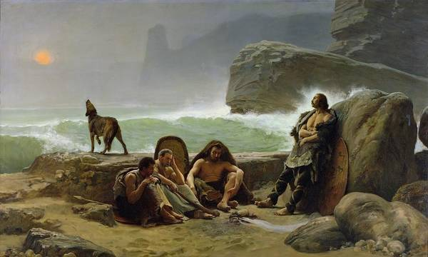 1923 Painting - The Gaulish Coastguards by Jean Jules Antoine Lecomte du Nouy