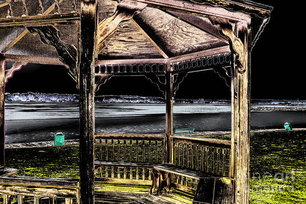 Photograph - The Gazebo At Night by William Norton