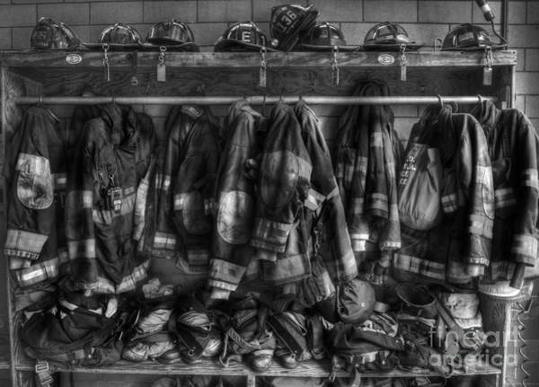 Lee Photograph - The Gear Of Heroes - Firemen - Fire Station by Lee Dos Santos