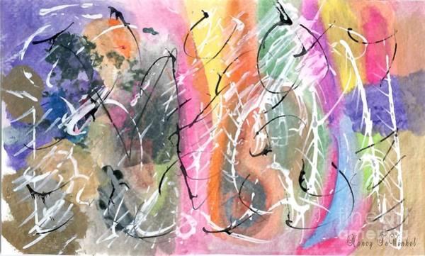 Genie Painting - The Genie Is Out by Nancy TeWinkel Lauren