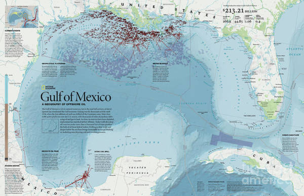 Wall Art - Photograph - The Geography Of Offshore Oil In The Gulf Of Mexico by William E Mcnulty