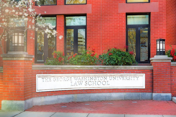 Photograph - The George Washington University Law School Dc by Susan Candelario