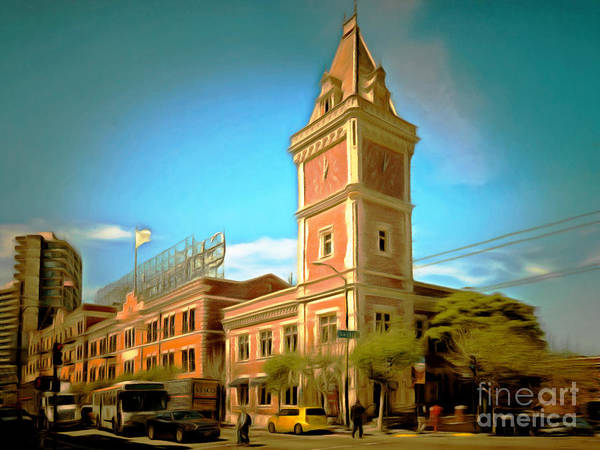 Photograph - The Ghirardelli Chocolate Factory Clock Tower San Francisco Cali by Wingsdomain Art and Photography