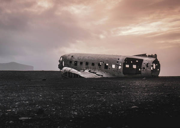 Photograph - The Ghost - Plane Wreck In Iceland by Dalibor Hanzal