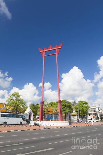 Wat Suthat Photograph - The Giant Swing by Roberto Morgenthaler