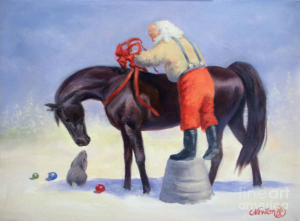 Jeanne Newton Schoborg Wall Art - Painting - The Gift Horse by Jeanne Newton Schoborg