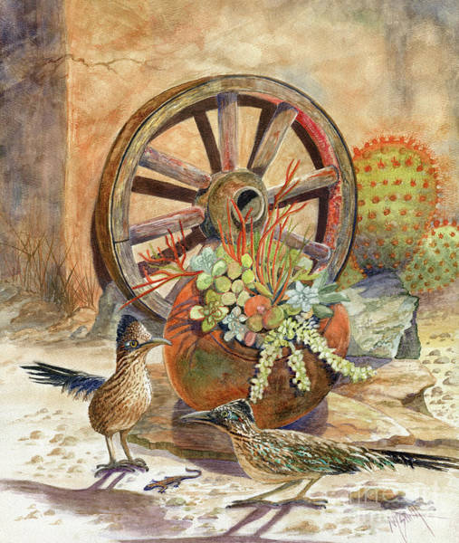 Roadrunner Painting - The Gift by Marilyn Smith