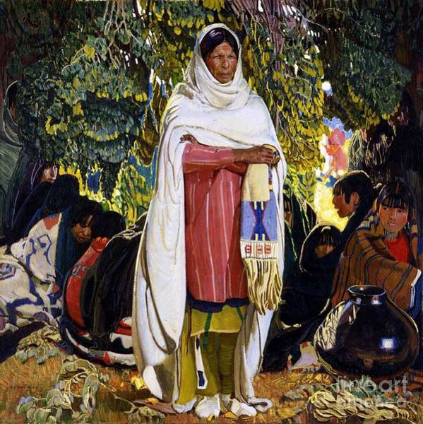 Native American Culture Painting - The Gift by Pg Reproductions