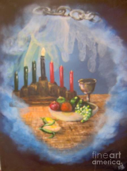 Food Chain Painting - The Gift by Saundra Johnson