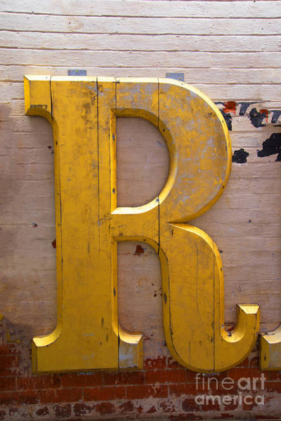 Photograph - The Gilded R by Brenda Kean