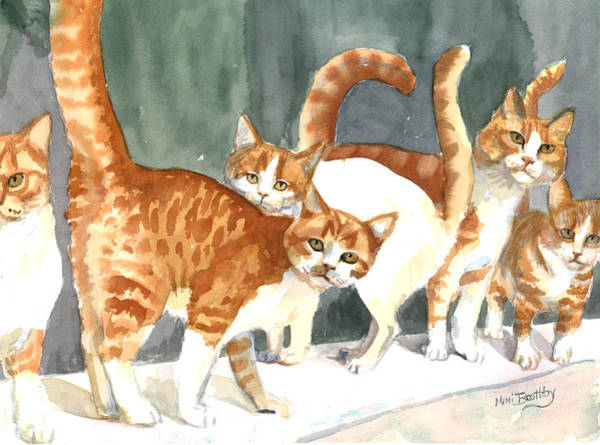 Painting - The Ginger Gang by Mimi Boothby