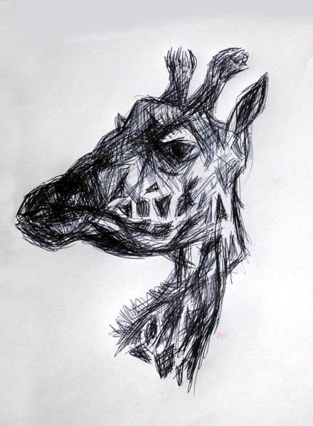 Drawing - The Giraffe  by Paul Sutcliffe