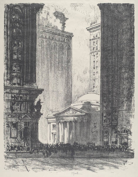 Wall Art - Drawing - The Girard Trust Company by Joseph Pennell