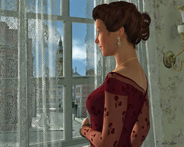The Girl At The Window Art Print