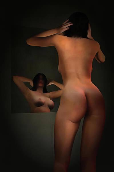 Painting - The Girl In The Mirror by Jan Keteleer