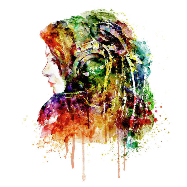 Reggae Wall Art - Painting - The Girl Is A Dj by Marian Voicu