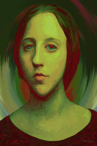 Digital Art - The Girl by Matt Lindley