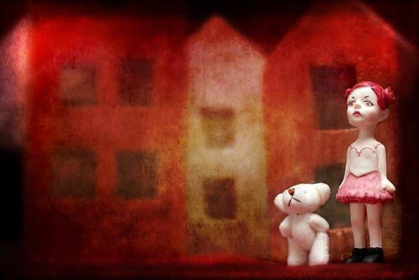 Doll House Photograph - The Girl With Teddy Bear by Heike Hultsch