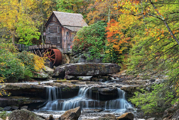 Photograph - The Glade Creek Grist Mill In West Virginia by Jim Vallee