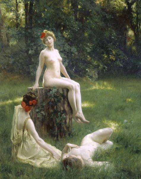 Stump Painting - The Glade by Julius Leblanc Stewart