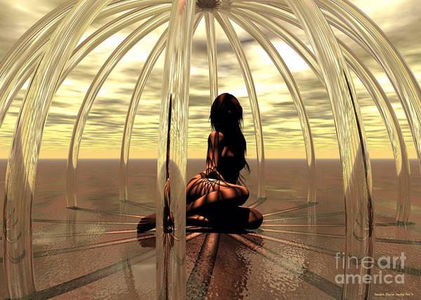 Daz Wall Art - Digital Art - The Glass Cage by Sandra Bauser Digital Art
